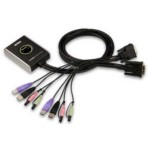DVI KVM Switch 2-port USB 2.0