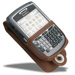 Luxury Leather Case For Blackberry 8700 - Brown