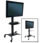 Cart W/tinted Glass Shelf Plp-unl