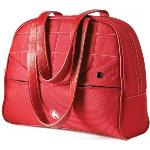 Women Laptop Purse Red 13.3inc With White Stitching