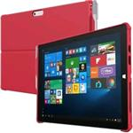 Feather [hybrid] Co-molded Rugged Case For Microsoft Surface Pro 4 - Red
