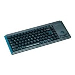 Keyboard G84-4400 Ultraflat Compact With Integrated Trackball Ps/2 Azerty Be Black