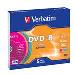 Dvd-r Media 4.7GB 16x Color 5-pk With Slim Case