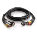 Cmg-rated Hd15 Sxga Rca +3.5mm M/m Cable With Low Profile Connectors 22.8m