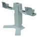 Monitor LCD - Dual Height Adjustable Stand Gray For 17/18.1/19/21.3in LCD