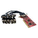 Rs232 PCI Serial Card With 16950 Uart 8 Port Low Profile