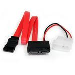 Slimline SATA To SATA With Lp4 Power Cable Adapter 12in
