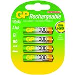 Gp Batteries Rechargeable AAA Nimh 1.2v 1000mah Pack of 4
