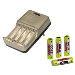 Charger Delta Slim (AA/AAA) With 4x2700 Nimh AA Batteries
