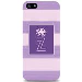 iPhone 5 Case Stripes Purple Octopus- Z