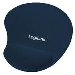 Mousepad With Gel Wrist Rest Support Blue